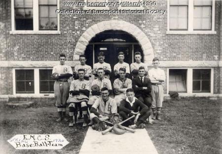Baseball team, East Maine Conference Seminary, 1920
