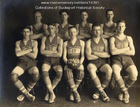 Basketball team, East Maine Conference Seminary, 1922