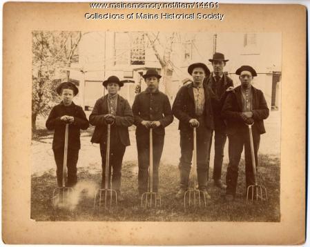 Garden crew, State School for Boys, South Portland, ca. 1880
