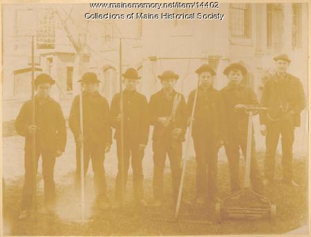 State School for Boys garden crew, ca. 1880