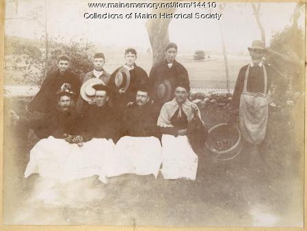 State School staff in costume, ca. 1880s