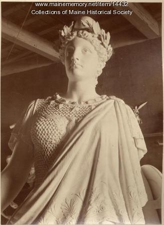 Plaster model of monument, ca. 1890