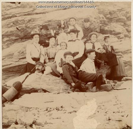 Chaplins and Skillins at Higgins Beach, ca. 1900