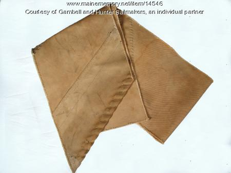 Fragment of a hand-made canvas sail, ca. 1930