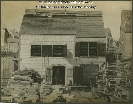 Herring smokehouse, Eastport, 1886