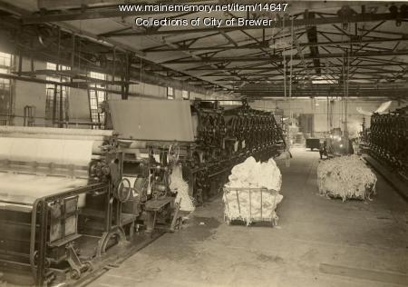 Paper machines, Eastern Manufacturing Company, Brewer, 1921