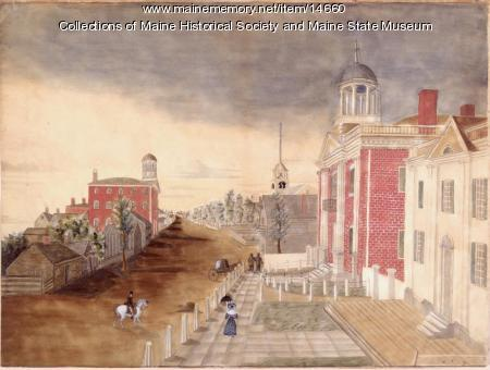 Maine State House in 1820