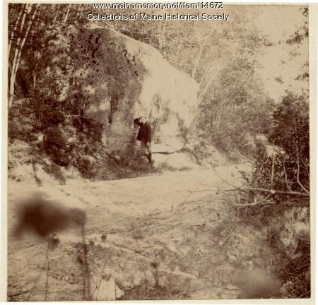 Resting by a rock, Bear Mountain, ca. 1895
