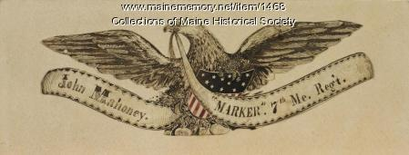 Shield of John Mahoney, 7th Maine regiment