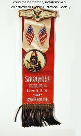 Improved Order of Red Men badge, Sanford, ca. 1900