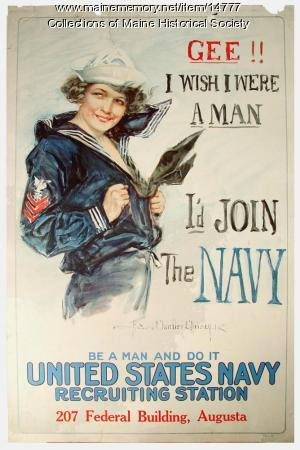 Gee!! I wish I were a man World War I poster, 1917