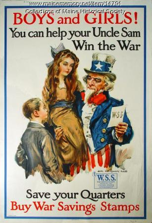 Children and war stamps World War I poster, 1917