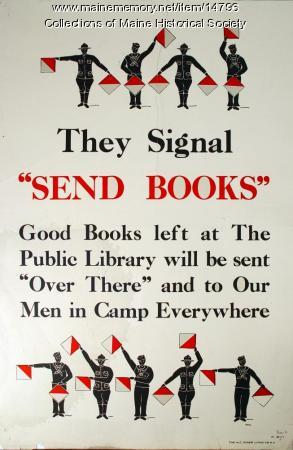 Book solitication poster, ca. 1917