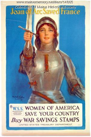 Joan of Arc saved France, World War I poster, c. 1918