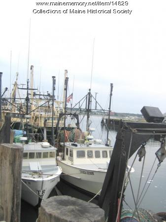 Fishing and Lobstering Boats at the Wharf, 2004