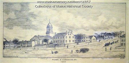 Pearl and Congress, Portland, 1845