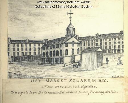 Hay Market Square, Portland, 1830