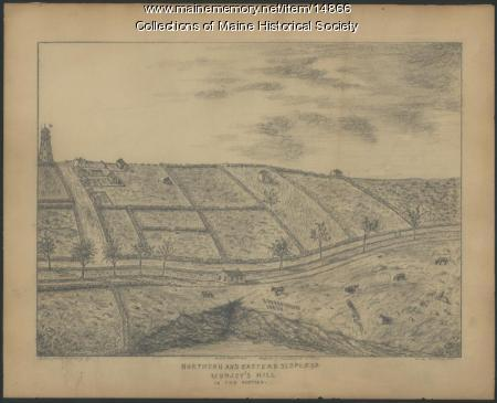 Slopes of Munjoy Hill as it appeared in the 1840s, Portland