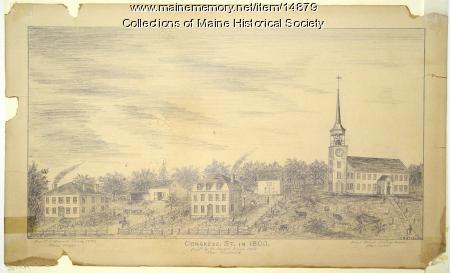 Congress Street, Portland, 1800