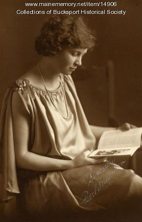 Pearl Snowman, Bucksport, ca. 1924
