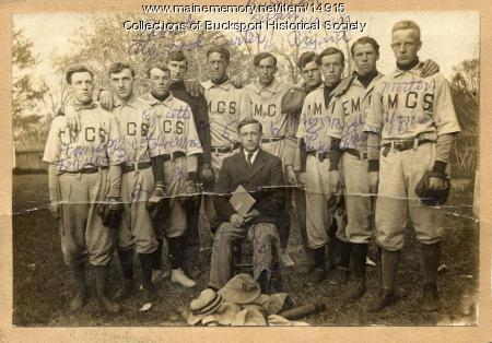EMCS baseball team, Bucksport, ca. 1909