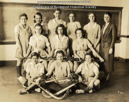 EMCS field hockey team, Bucksport, 1933