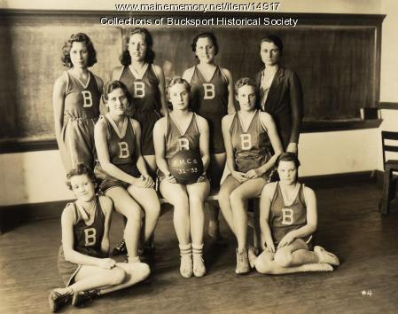 Basketball team, Bucksport, ca. 1932