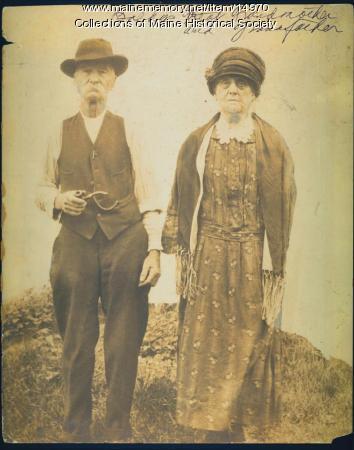 Millard and Helene Baldwin, New Gloucester, ca. 1925
