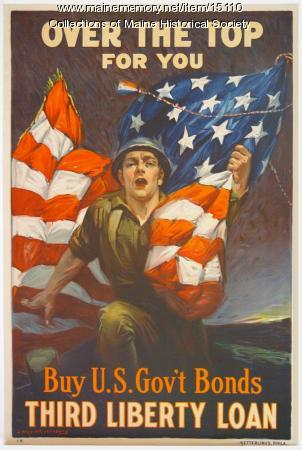 Over the top for you-Buy U.S. gov't bonds, World War I poster, c. 1918