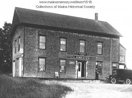 L.A. Weaver store, post office and grange hall, Hope, ca. 1900