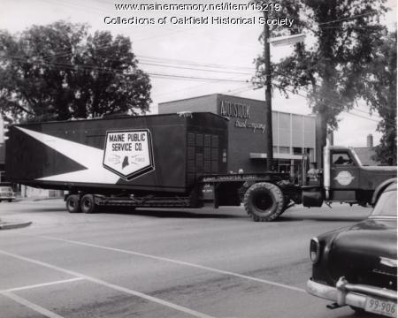 Electric generator delivery, Presque Isle, 1959