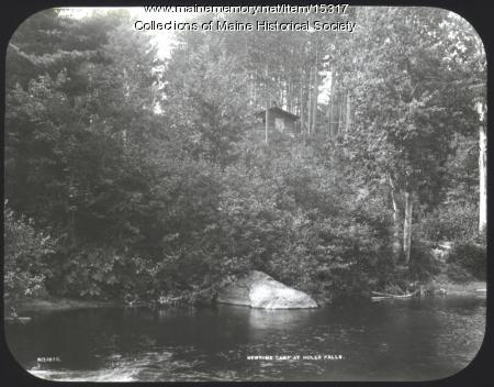 Newton's Camp, near Jackman, ca. 1900