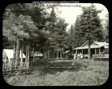 Smith's Camps, Umbazooksus Lake, ca. 1900