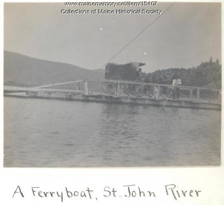 Ferry, St. John River, 1911