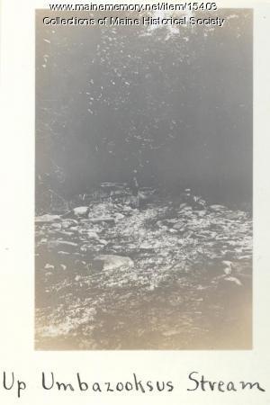 Up Umbazooksus Stream, 1911