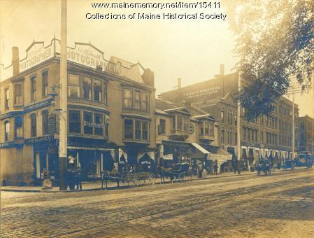 Storefronts, Portland, ca. 1895