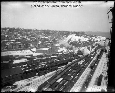 Portland from Grand Trunk elevator, ca. 1900