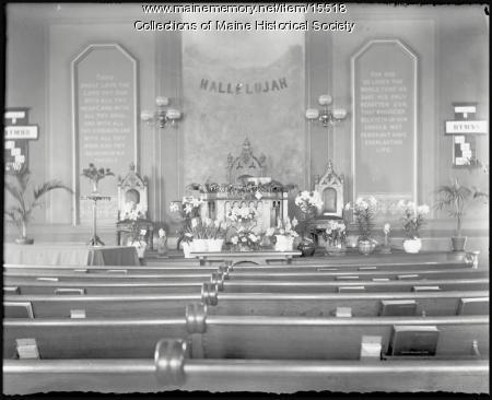 Interior, Woodfords Congregational Church, Portland, 1901