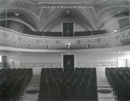 Cumston Hall Auditorium Seating, Monmouth, ca. 1900