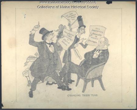 Prohibition cartoon, ca. 1851
