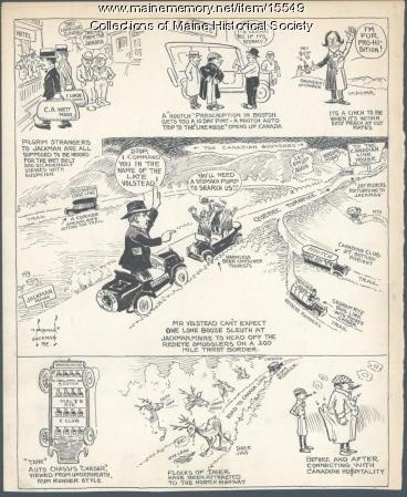 Prohibition cartoon, ca. 1925