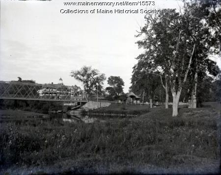 Riverton Park entrance, Portland, ca. 1900