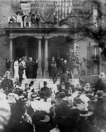 Theodore Roosevelt visiting Portland, 1902