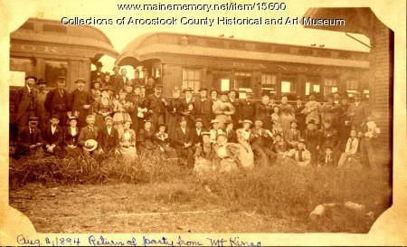 Excursion to Mount Kineo from Houlton, 1894