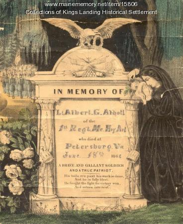 Memorial Print for Lt. Albert G. Abbott, 1864