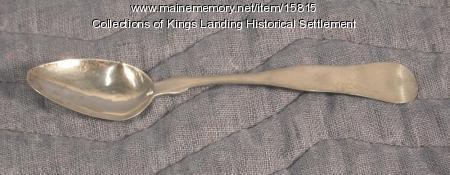 Coin Silver Spoon, Bangor, ca. 1850