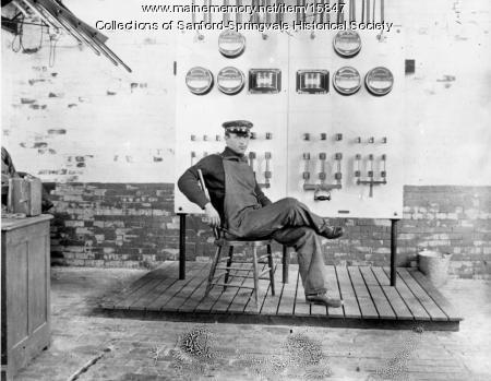 Man at the Goodall Mill Controls