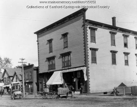 Stores on Main Street, Sanford, Early 1900s