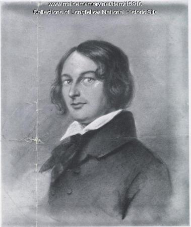 Print of 1839 portrait of Henry Wadsworth Longfellow