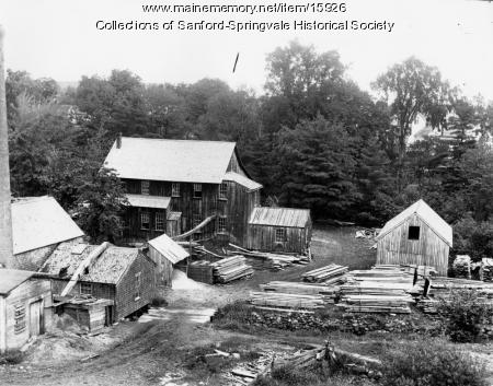 Fred A. Smith's Sawmill on the Mousam River